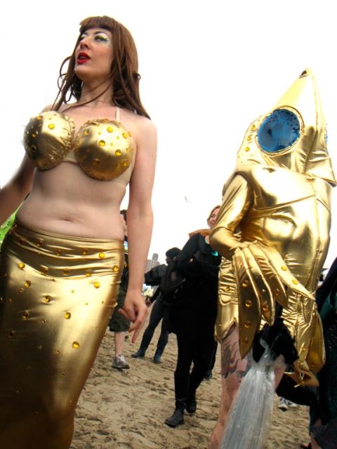 Mermaid And Her Goldfish